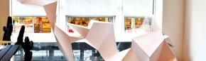 Studenten maken een installatie voor Levis AmbianceHouse